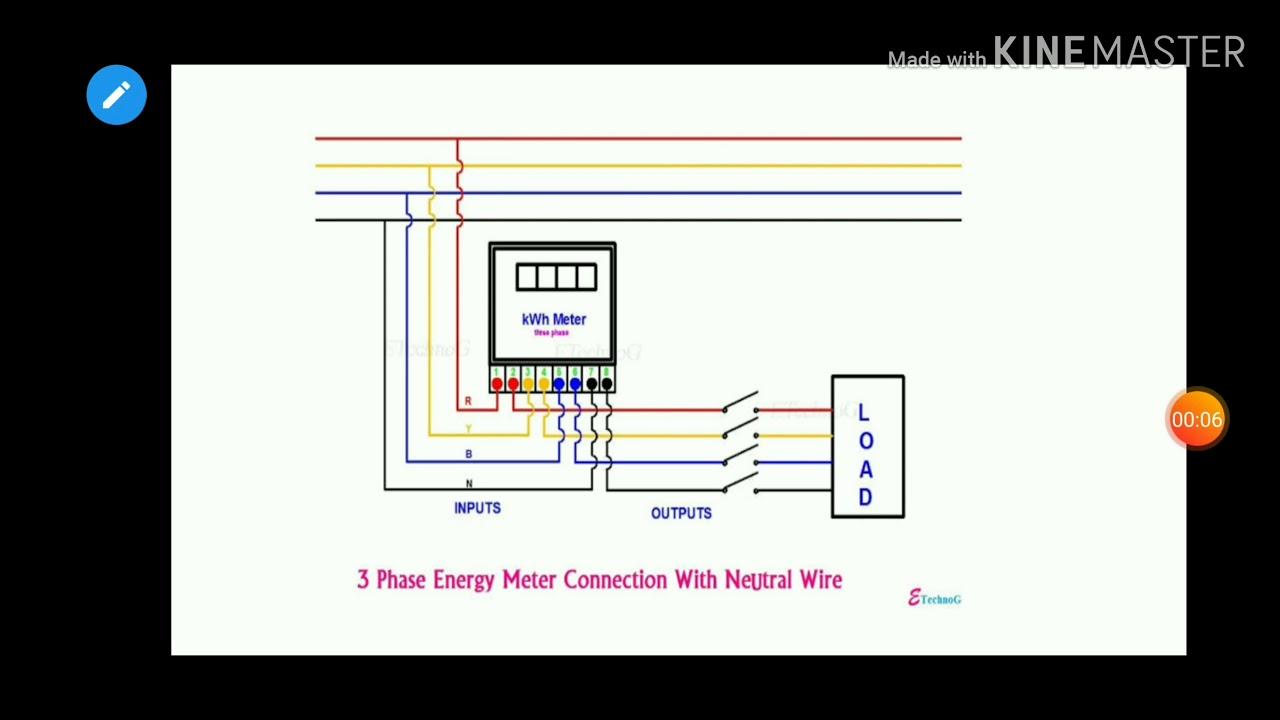 3 Phase Energy Meter Wiring Diagram
