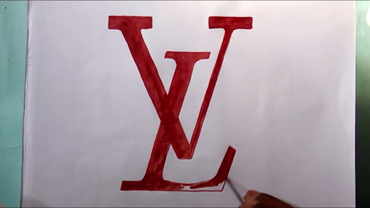 how to draw the louis vuitton logo logo drawing youtube