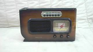 1941 Philco 'sled' Model 41-226 Old Antique Wood Vintage Tube Radio