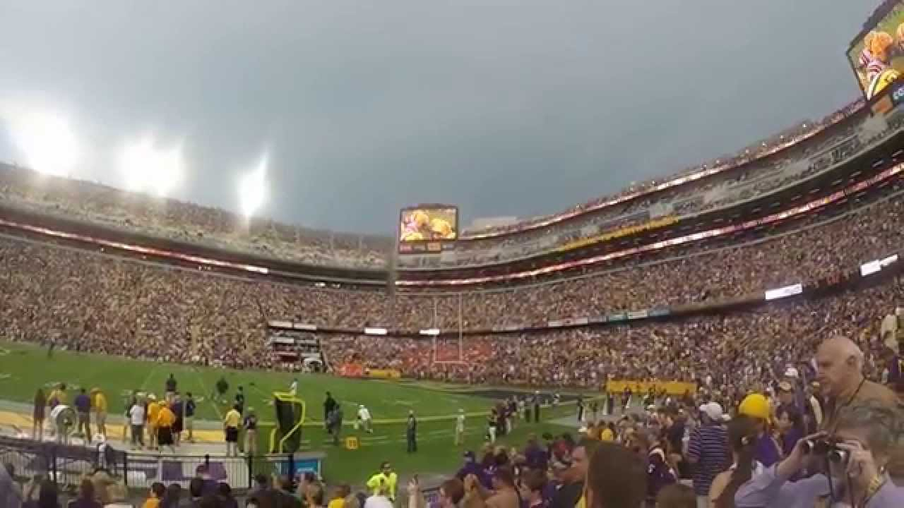 lsu tiger stadium new south end zone 2014 youtube