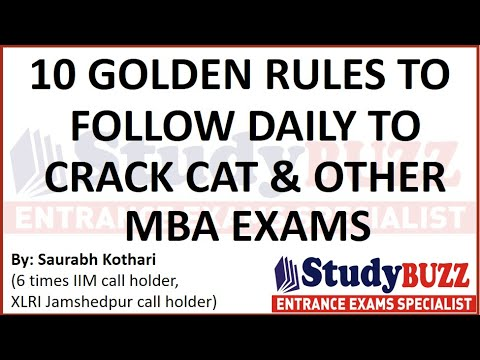 follow-these-10-golden-rules-daily-to-clear-cat-&-other-mba-exams-2020