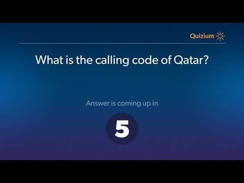 What is the calling code of Qatar?   Qatar Quiz
