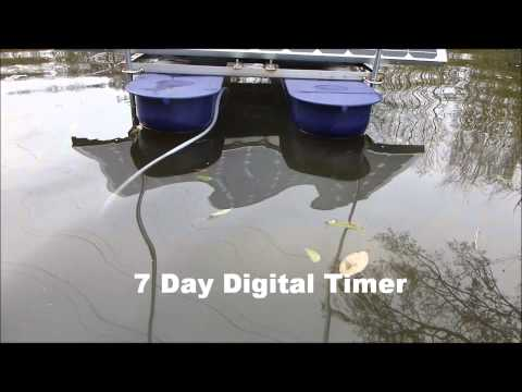 Solar Powered Aerator And Circulator Savior Pool Demo Doovi
