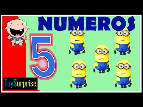 los numeros para niños de preescolar del 1 al 10. Minions, Peppa, Mickey, Bob Esponja, Dora
