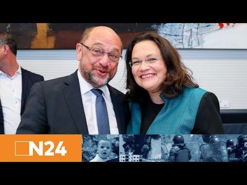 SPD stellt sich neu auf: Andrea Nahles stellt sich zur Wahl als SPD-Fraktionschefin