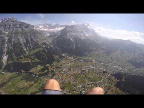 Paragliding Over Grindelwald, Switzerland