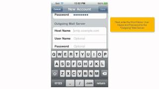 How to setup iPhone POP3 Email by: HostCheetah.tv