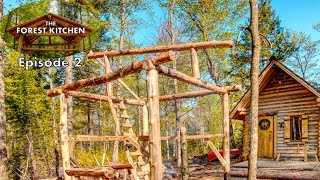 The Forest Kitchen at the Off Grid Log Cabin, Ep  2: Working Solo