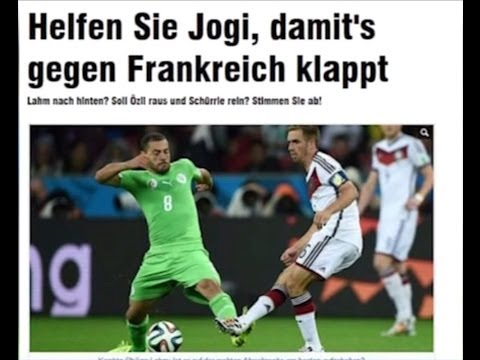 Algérie vs Allemagne - Réactions de la presse allemande