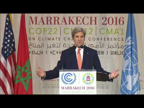 MOROCCO w/CC: 11-15-16. Sec .Kerry's FULL Remarks On Climate Change At COPP 22 in Marrakech.