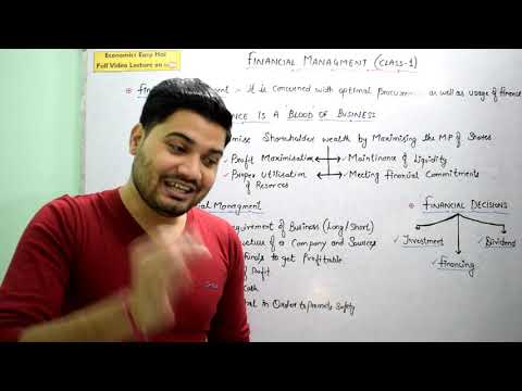 #37, Financial Management – Meaning, Objective and its Role I Class - XII I