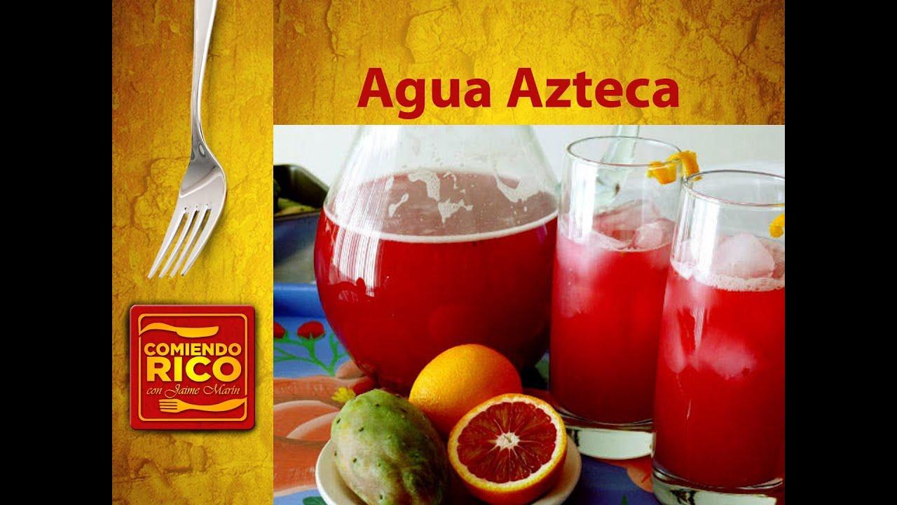 Agua Azteca - Agua de Tuna y Nopal - YouTube