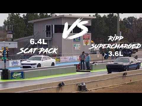 Ripp Supercharged 3.6L Challenger Sets A New Record VS 6.4L Scat Pack Charger