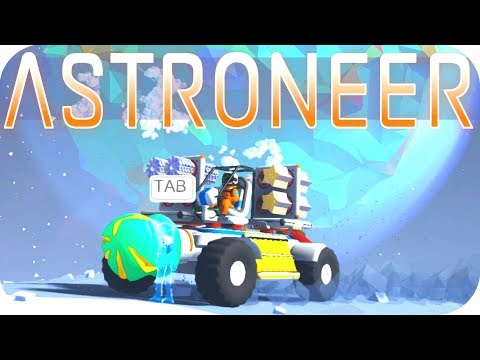 Astroneer Gameplay: MOON BASE ALPHA!  ▶EXCAVATION UPDATE◀  Let's Play Astroneer #8