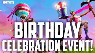 Fortnite's Birthday Celebration Event! FREE COSMETICS