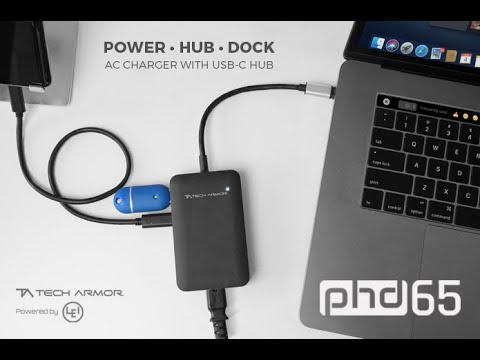 PHD AC Charger With USB-C Hub By Tech Armor & LEI