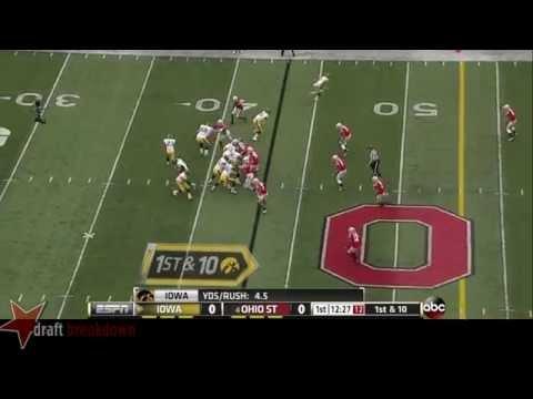 #68 Brandon Scherff, LT, Iowa Vs Ohio State '13