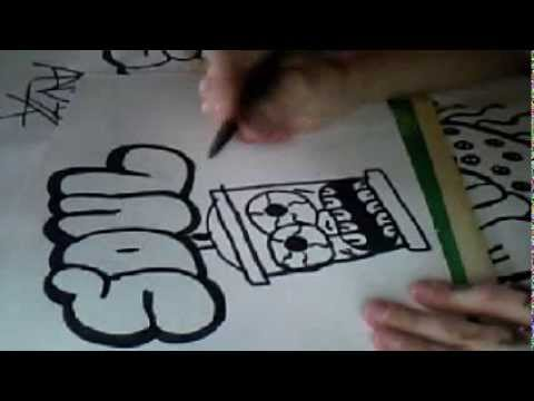 Alphabet Tag Facile graffiti #facile a faire sur papier # - youtube
