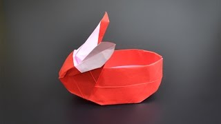 Origami: Bunny Basket - Instructions in English (BR)