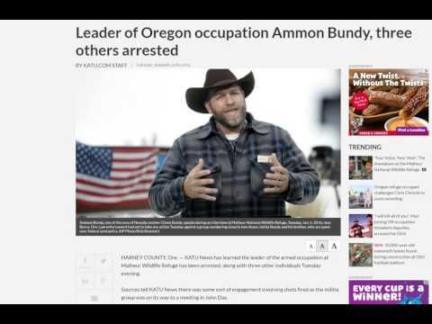 Burns Oregon--BREAKING--KATU confirms Ammon arrested!