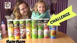 PRINGLES CHALLENGE mit 8 Pringoooals Chips Sorten