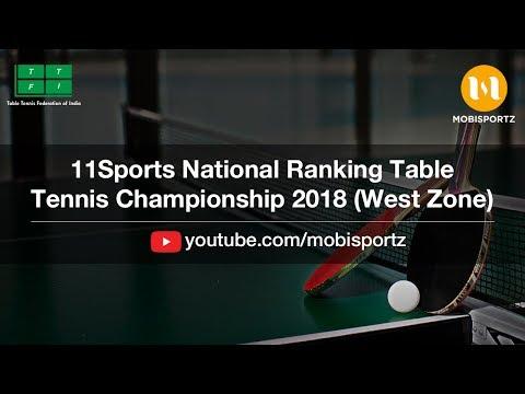 Sharath Kamal Vs Sanish Ambekar 11Sports National Ranking Table Tennis Championship 2018 (West Zone)