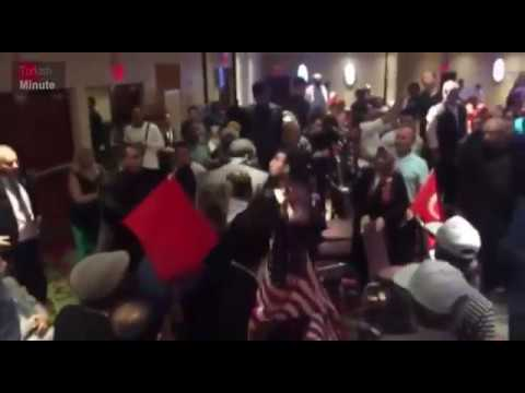 [VIDEO] Erdoğan's security guards again beat protesters during NYC speech