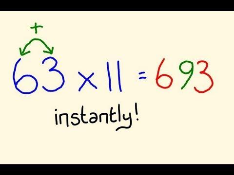 Times Table Trick Elevens Fast Mental Multiplication Math Trick