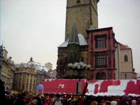 Prague Old Town Square, The Tyn Church and Town Hall