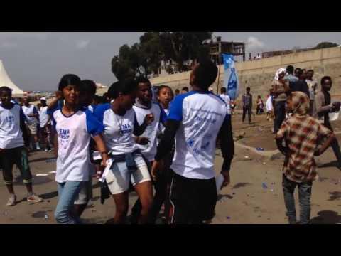 A group singing dancing to Sami Go Ethio Shake