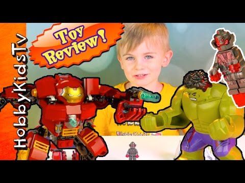We Review the Lego Hulkbuster and Smash with HobbyKids