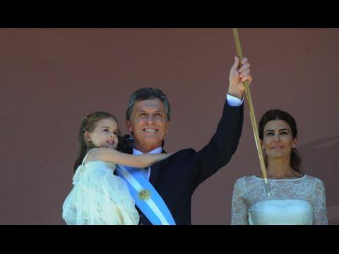 Mauricio Macri - Asunción Presidencial - El presidente saludó y habló en el balcón de la Casa Rosada