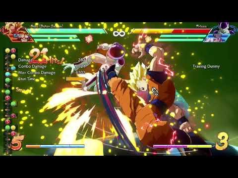 DBFZ/ Base Goku DHC TOD with Spirit Bomb with  SsjGoku