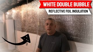 White Double Bubble Reflective Foil Insulation Thermal Barrier