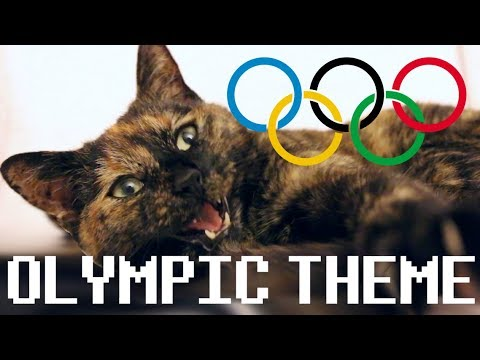 the olympic theme song but with a cat