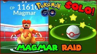 Magmar RAID SOLOED in Pokemon GO! (Pokemon Go RAID)