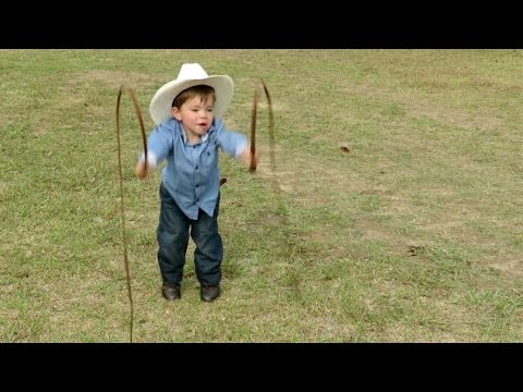 Mini Indiana Jones Is Expert At Whip