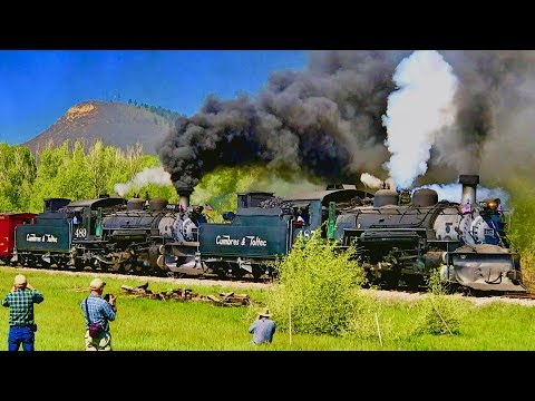 Opening Day 2017 Doubleheader + Chama Yards Railfanning | Cumbres & Toltec Scenic Railroad