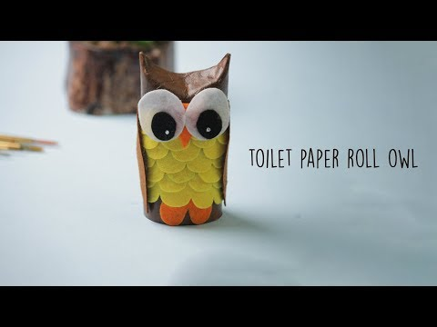 How to make a Paper Owl | Toilet paper Roll Craft ideas