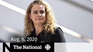 CBC News: The National   Aug. 6, 2020   $250K spent on Payette's privacy demands