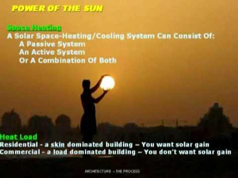 Architecture 101 Part 9   Some Principals of Solar Passive Design