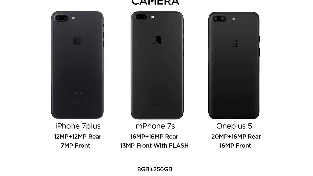 new arrival dc701 7092a mPhone 7s vs Oneplus 5, iPhone 7Plus comparison