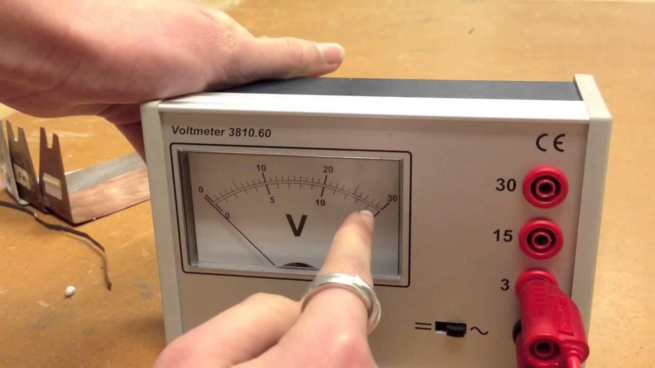 Fysik forsøg 3.5 spændingsrækken