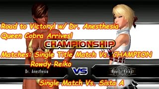 [Rumble Roses XX]Single Title Championship! Vs. CHAMPION Rowdy Reiko