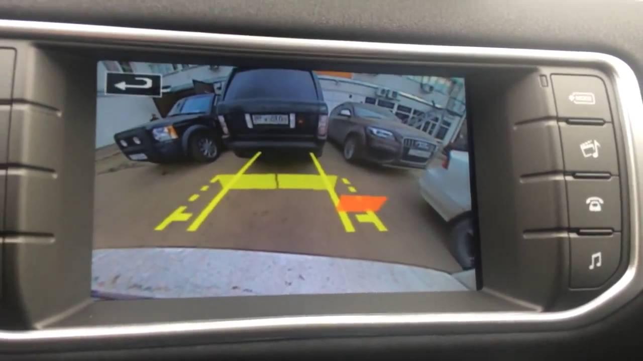 Установка камеры заднего вида Range Rover Evogue 2016 InControl Touch