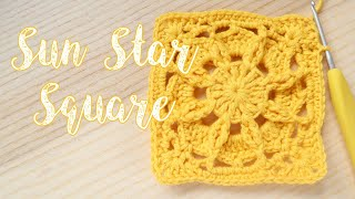 Today's crochet design is for my Sun Star granny square, which measures about 4 inches by 4 inches depending on what yarn you used. I recommend using a ...