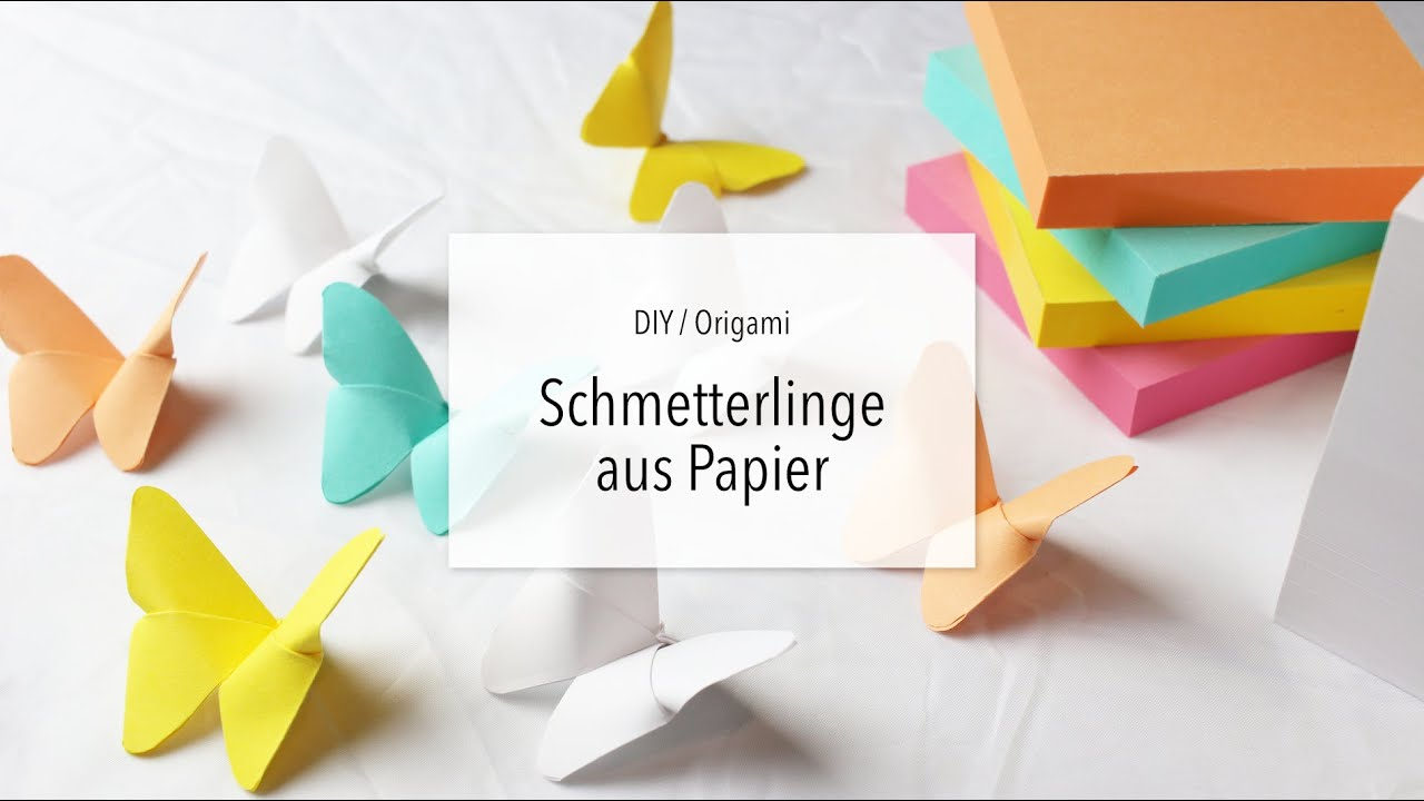 diy origami schmetterling falten aus papier zeit f r. Black Bedroom Furniture Sets. Home Design Ideas