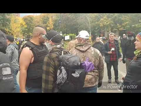 Portland Antifa protest Nov 4, 2017.