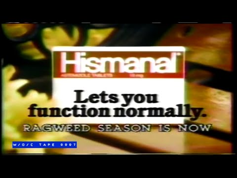 Hismanal Allergy Pills Commercial – 1986