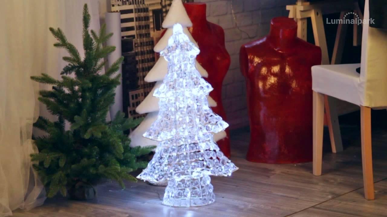 Tannenbaum Acryl.Tannenbaum Mit Acryl Kristallen H 75 Cm Leds Kaltweiß Code 29057
